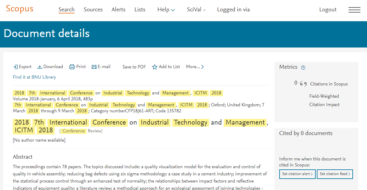 ICITM 2020   IEEE Industrial Technology and Management
